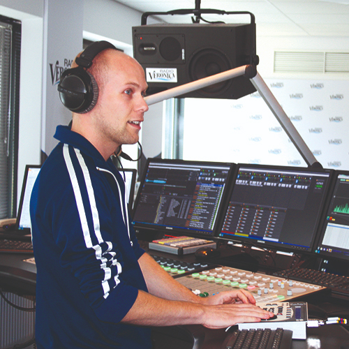 Dedicated KVM - radio studio Sky Radio