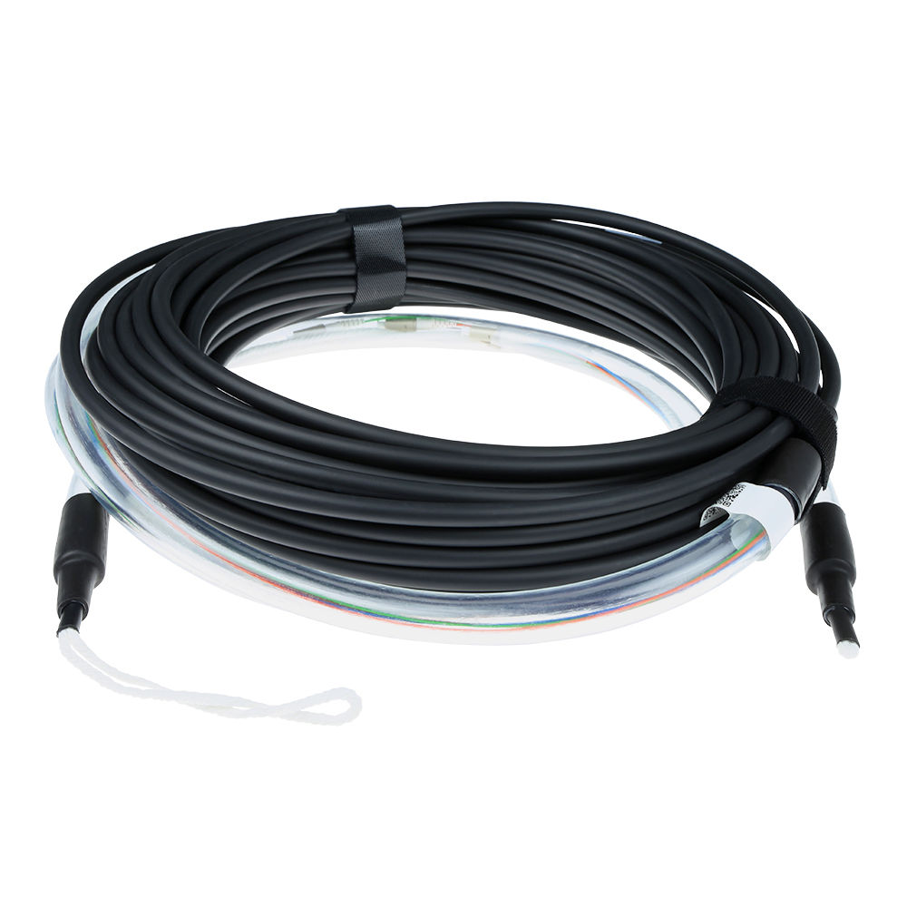 ACT 50 meter Singlemode 9/125 OS2 indoor/outdoor cable 8 fibers with LC connectors