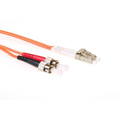 Ewent 3 meter LSZH Multimode 50/125 OM2 fiber patch cable duplex with LC and ST connectors