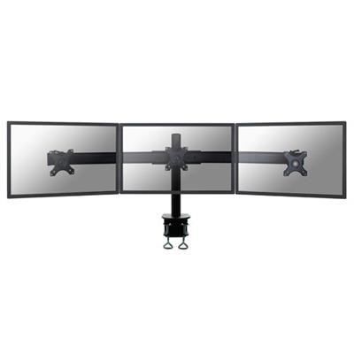 Newstar FPMA-D700D3 Monitor desk mount for 3 screens up to 27 inches, black