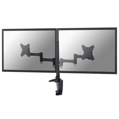 Newstar FPMA-D1330DBLACK Monitor desk mount for 2 screens up to 27 inches, black