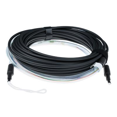 ACT 10 meter Multimode 50/125 OM4 fiber tight buffer kabel 4 voudig met LC connectoren