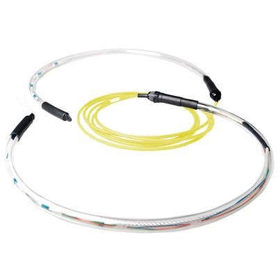 ACT 80 meter Singlemode 9/125 OS2 indoor/outdoor kabel 8 voudig met LC connectoren