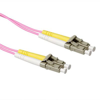 ACT 0,25 meter LSZH Multimode 50/125 OM4 glasvezel patchkabel duplex met LC connectoren